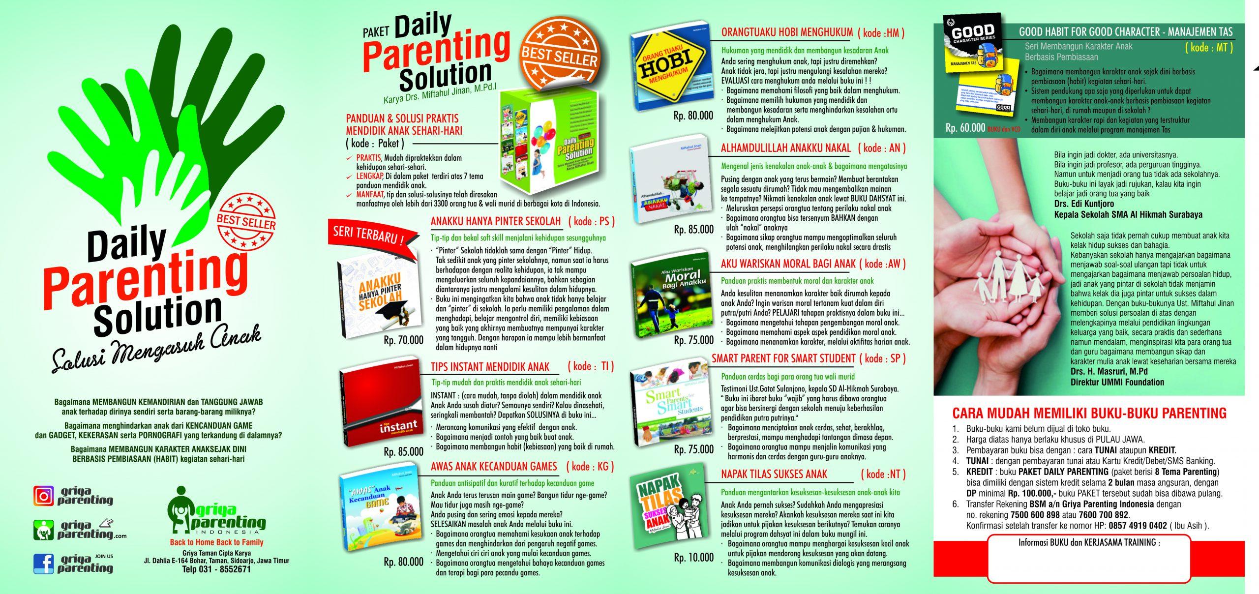 Katalog Buku dan Daftar Layanan Griya Parenting Indonesia